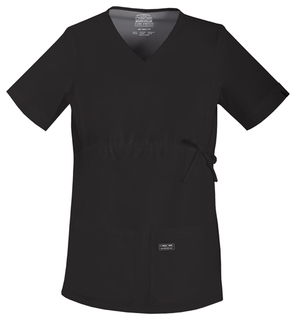 Maternity V-Neck Knit Panel Top-Cherokee Workwear