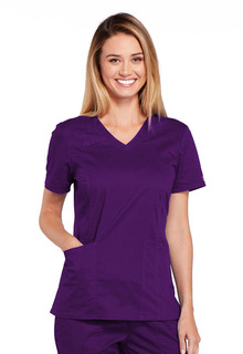 WW Core Modern Ladies 3 Pocket V-Neck Scrub Top - Workwear 4710-