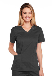 WW Core Modern Ladies 3 Pocket V-Neck Scrub Top - Workwear 4710