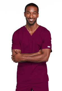 Cherokee Workwear Unisex V-Neck Scrub Top-Cherokee Workwear