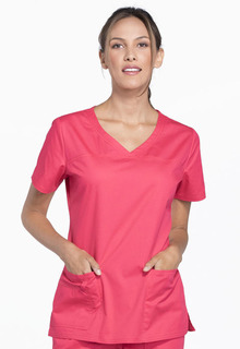 Core Ladies 2 Pocket V-Neck Scrub Top - Workwear 4727-Cherokee Workwear
