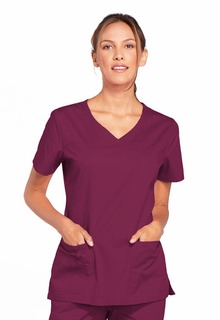 Cherokee Workwear 4727 V-Neck Top-Cherokee Workwear
