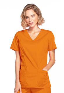 4728 Mock Wrap Top-Cherokee Workwear