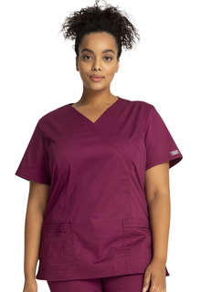 Core 3 Pocket Mock Wrap Scrub Top-Cherokee Workwear