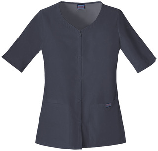 4730 Button Front Top-Cherokee workwear