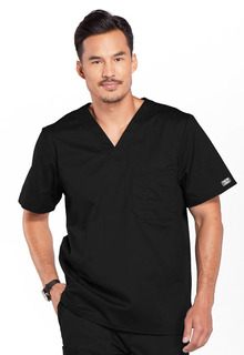 4743 Mens V-Neck Top-Cherokee Workwear