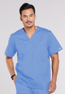 WW Core Men's Double Breast Pocket V-Neck Scrub Top - Workwear 4743-