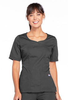 Workwear Ladies Curved Front Scrub Top - Originals-Cherokee Workwear