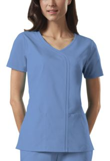 4747 Mock Wrap Top-Cherokee Workwear