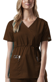 4748 Mock Wrap Top-Cherokee Workwear