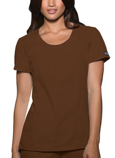 Round Neck Top-Cherokee Workwear