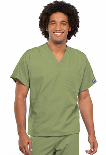Cherokee Work Wear Unisex V-Neck Scrub Top-Cherokee Workwear
