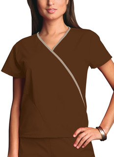 Cherokee Workwear WW Medical Mini Mock Wrap Top-Cherokee Workwear
