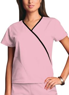 Workwear Ladies Contrast Mini Mock Wrap Scrub Top - Originals 4800-Cherokee Workwear