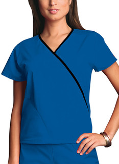 Mini Mock Wrap Top-Cherokee Workwear