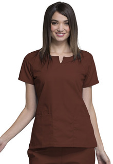 4824 Round Neck Top-Cherokee Workwear
