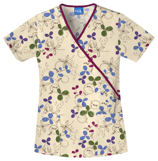 Scrub HQ Mock Wrap Scrub Top-Scrub HQ