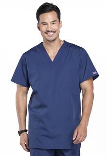 Cherokee Workwear Unisex Scrub Shirt 3XL 3-Pocket Zip Short Sleeve Uniform NWT