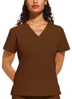 4880 Mini Mock Wrap Top-Cherokee Workwear