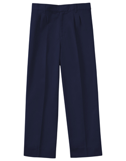 Boys Adj. Waist Pleat Front Pant-Classroom Uniforms