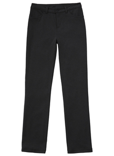 51143AZ Girls Ponte Tapered Leg Pant-
