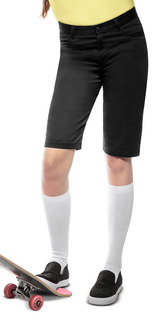 "Juniors Stretch ""Matchstick"" Shorts-Classroom Uniforms"