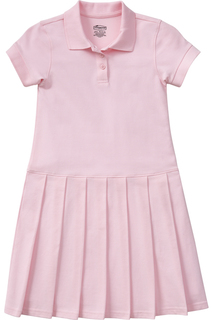 54122 Girls Pique Polo Dress-Classroom Uniforms