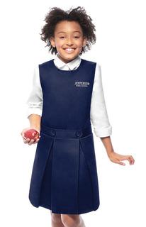 54452 Girls Kick Pleat Jumper-Classroom Uniforms