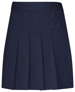 Girls Stretch Pleated Tab Scooter-
