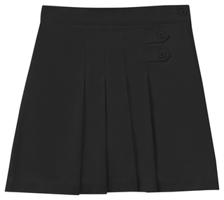Juniors Stretch Pleated Tab Scooter-Classroom Uniforms