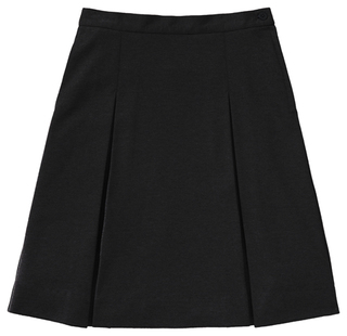 55402AZ Girls Ponte Knit Kick Pleat Skirt-
