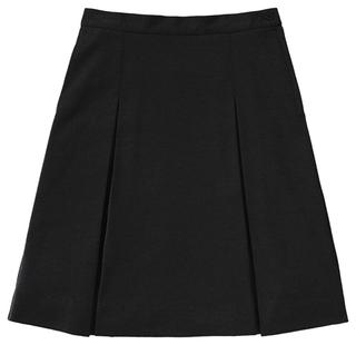 55403AZ Girls Ponte Knit Kick Pleat Skirt-