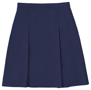 55794 Longer Length Kick Pleat Skirt-Classroom Uniforms
