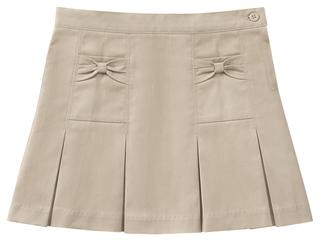 55982AZ Girls Stretch Bow Pocket Scooter-Classroom School Uniforms