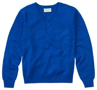 Youth Unisex Long Sleeve V-neck Sweater-Classroom Uniforms