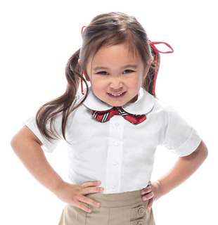 Preschool Short Sleeve Peter Pan Blouse-Classroom Uniforms