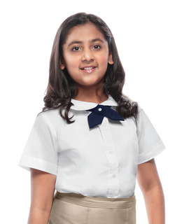 Girls Short Sleeve Peter Pan Blouse-Classroom Uniforms