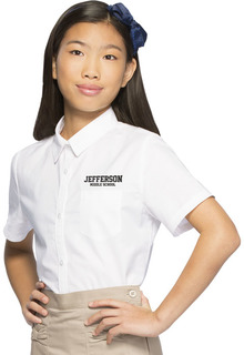 Girls Short Sleeve Oxford-Classroom Uniforms