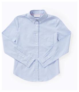 Girls Long Sleeve Oxford Shirt-Classroom Uniforms
