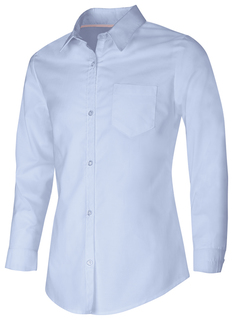 57512 Girls Long Sleeve Oxford Shirt-