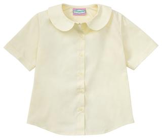 Juniors Short Sleeve Peter Pan Blouse-