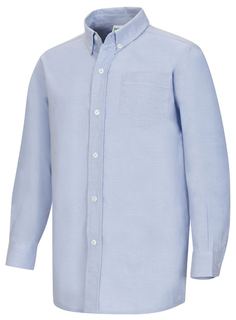 Mens Long Sleeve Oxford Shirt-Classroom Uniforms