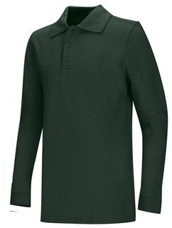 Adult Unisex Long Sleeve Pique Polo-Classroom Uniforms