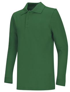 Adult Unisex Long Sleeve Pique Polo-Classroom Uniforms