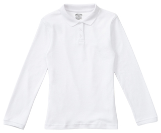 Junior Long Sleeve Fitted Interlock Polo-Classroom Uniforms