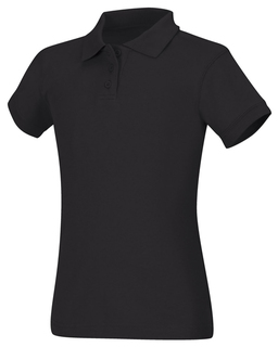 Girls Short Sleeve Fitted Interlock Polo-