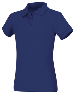 Girls Short Sleeve Fitted Interlock Polo-Classroom Uniforms
