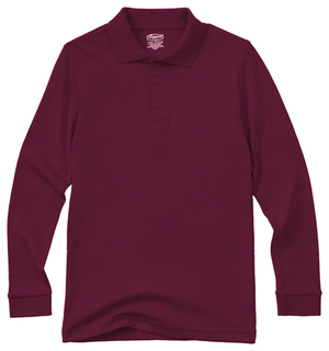 Youth Unisex Long Sleeve Interlock Polo-