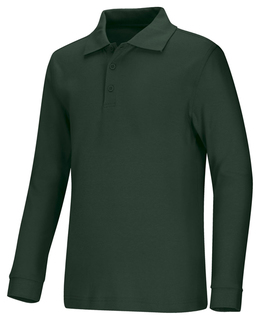 Adult Unisex Long Sleeve Interlock Polo-Classroom Uniforms