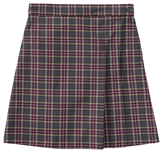 Girls Plus Plaid Double Pleated Scooter-